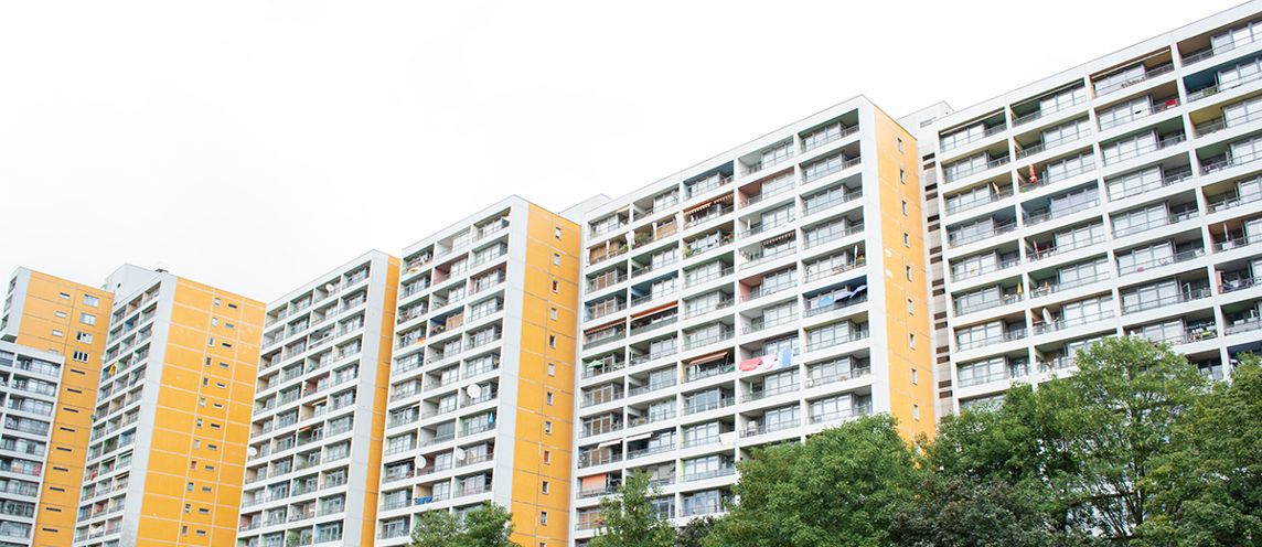 Großwohnsiedlung in Berlin-Kreuzberg